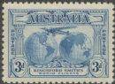 Australia KGV SG122 1931 3d Kingford Smith's World Flights (AGCM/635)